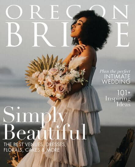 cover of magazine for Oregon Bride
